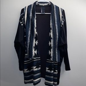 Anthropologie Black & Navy Cardigan
